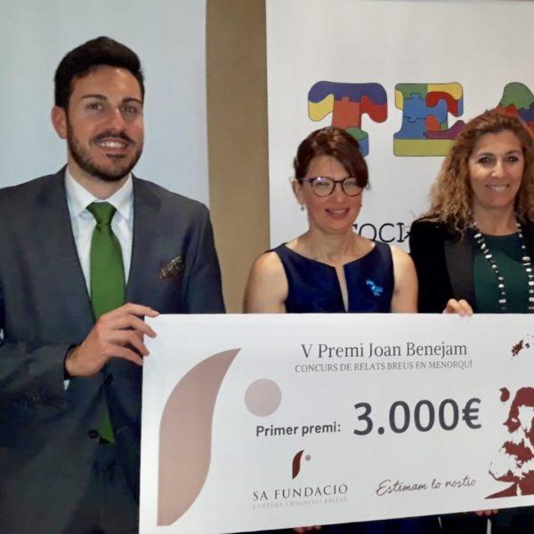 Sa Fundació dóna 1.000€ a TEA Menorca per teràpies d'ajuda a fillets amb autisme