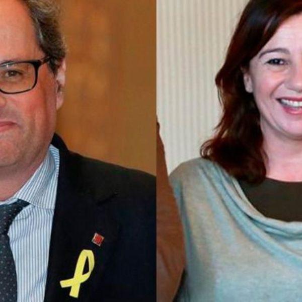 """Sa Fundació demana a Francina Armengol si està d'acord amb Quim Torra quan diu que Balears pertany a sa """"nació catalana"""""""